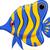 clown · poissons · cartoon · sourire · fond · orange - photo stock © jawa123