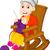 köt · nő · szék · lány · macska · otthon - stock fotó © jawa123