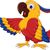 cute parrot cartoon posing stock photo © jawa123