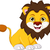 cute lion cartoon smiling stock photo © jawa123