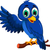 cute blue bird cartoon presenting stock photo © jawa123
