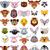 большой · животного · голову · Cartoon · коллекция · счастливым - Сток-фото © jawa123