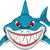 angry shark cartoon for you design stock photo © jawa123