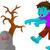 зла · Cartoon · зомби · иллюстрация · глядя · графических - Сток-фото © jawa123