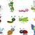 insetos · conjunto · branco · ilustração · fundo · arte - foto stock © jawa123