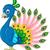 dekoratif · tavuskuşu · soyut · arka · plan · yaz - stok fotoğraf © jawa123