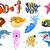 illustrazione · acqua · alimentare · pesce · mare · animale - foto d'archivio © jawa123