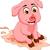 funny pig cartoon sitting in mud puddle stock photo © jawa123