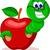 cute · cartoon · rups · worm · gelukkig · boekenworm - stockfoto © jawa123