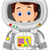 cartoon astronaut for you design stock photo © jawa123