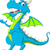 blue dragon cartoon waving stock photo © jawa123