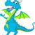 kék · sárkány · rajz · integet - stock fotó © jawa123