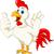 happy cartoon rooster waving stock photo © jawa123