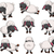 nice set of vector cartoon sheep for your design stock photo © jawa123