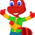 cute red ant cartoon thumb up stock photo © jawa123