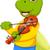 violon · mascotte · illustration · arc · musique - photo stock © jawa123