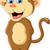baba · majom · fa · aranyos · tart · banán - stock fotó © jawa123