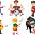 crianças · brincando · instrumentos · musicais · ilustração · criança · fundo · arte - foto stock © jawa123