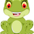 funny frog cartoon sitting stock photo © jawa123