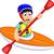 счастливым · дети · гребля · лодка · иллюстрация · девушки - Сток-фото © jawa123