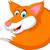 Cute · Cartoon · Fox · сидят · улыбка · собака - Сток-фото © jawa123