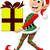 elf · geschenk · illustratie · partij · hoed · aanwezig - stockfoto © jawa123