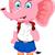 ピンク · 象 · 漫画 · ユーモラス · 実例 · かわいい - ストックフォト © jawa123