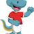 lagarto · corrida · feliz · desenho · animado · sorridente · verde - foto stock © jawa123