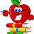 books with apple cartoon presenting stock photo © jawa123