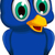 cute blue bird cartoon posing stock photo © jawa123