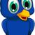 aranyos · kék · madár · rajz · pózol · természet - stock fotó © jawa123