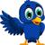 cute blue bird cartoon presenting stock photo © jawa123