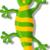 gelukkig · cartoon · gekko · illustratie · naar - stockfoto © jawa123
