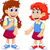 дети · говорить · иллюстрация · группа · девушки · детей - Сток-фото © jawa123