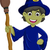 halloween ugly witch with a hat and broom stock photo © jawa123