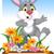 aranyos · nyúl · színes · rajzfilmfigura · izolált · fehér - stock fotó © jawa123