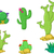 different types of cactus plants realistic decorative icons set for you design stock photo © jawa123