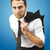Portrait of a serious businessman holding coat on shoulder stock photo © jaycriss