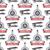 vintage airplane tour pattern biplane propellers seamless background with ribbon biplanes retro p stock photo © jeksongraphics