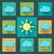 flat weather icons and set long shadows seasons theme easy to use as icons logo on web mobile a stock photo © jeksongraphics