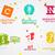 conjunto · vetor · abstrato · criador · design · de · logotipo · elementos - foto stock © jeksongraphics