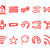 ingesteld · web · icons · logo · internet · browser - stockfoto © jeksongraphics