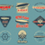vintage airship logo designs set retro dirigible badges collection airplane label vector design o stock photo © jeksongraphics