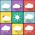 weather flat icons set on multicolor background buttons seasons theme easy to use as icons logo o stock photo © jeksongraphics