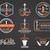 ingesteld · hookah · ontspannen · badges · ontwerp - stockfoto © jeksongraphics