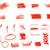 vektor · absztrakt · piros · vízfesték · terv · textúra - stock fotó © jeksongraphics