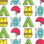 rafting equipment seamless pattern outdoors style thin line color design stylish elements for web stock photo © jeksongraphics