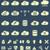 silhouette cloud storage data analysis network technology settings icons flat set isolated on mul stock photo © jeksongraphics
