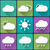 flat design style weather icons set on multicolor buttons seasons theme easy to use as icons logo stock photo © jeksongraphics