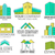 set of house logo designs real estate icon suitable for info graphics websites and print media stock photo © jeksongraphics